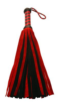 Short Suede Flogger Black Red