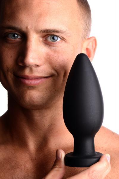 Colossus XXL Silicone Anal Plug Suction Cup Black