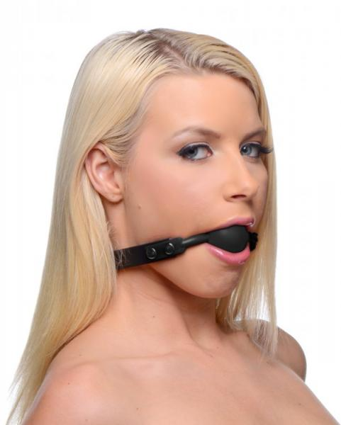 Premium Hush Locking Silicone Comfort Gag Black