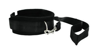 Collar And Leash Neoprene Set Black