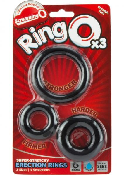Ringo x3 3 Pack C Rings 6 Packs Per Box Black