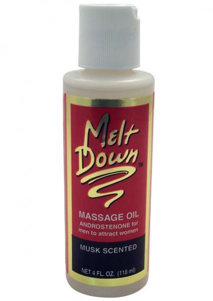 Meltdown Sensuous Massage Oil For Men Musk 4 Ounce