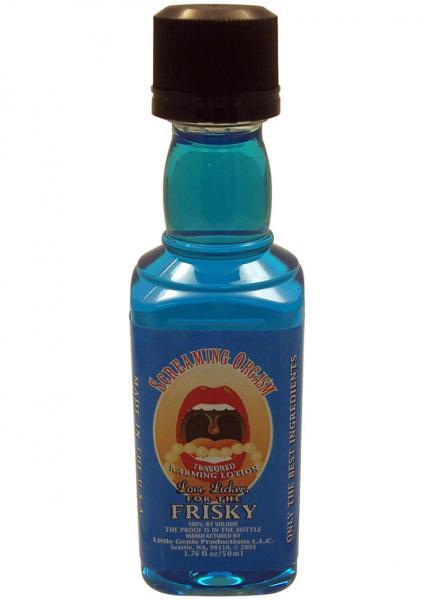 Love Lickers Flavored Warming Oil Screamin Orgasm 1.76oz