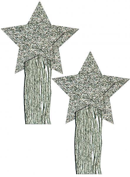 Pastease Silver Glitter Tassle Stars OS