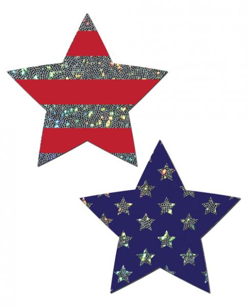Pastease Glitter Patriotic Star Red Blue O/S