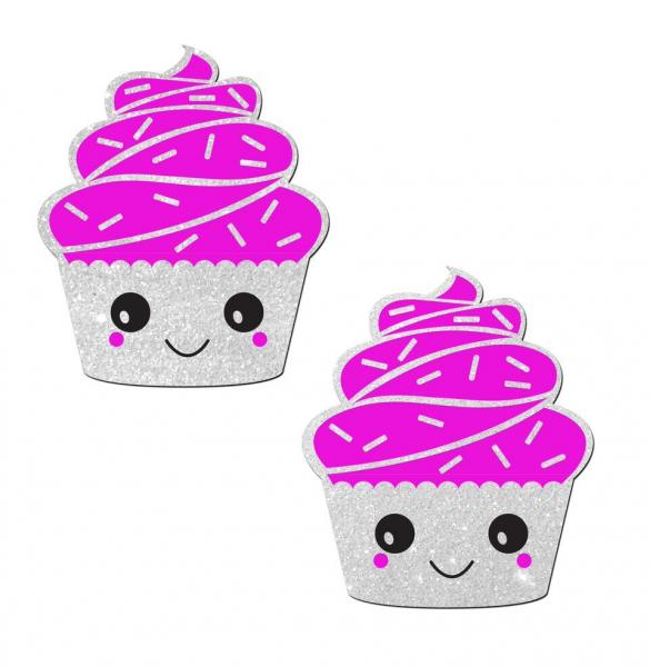 Pastease Cupcake White Glittery Frosting Nipple Pasties O/S