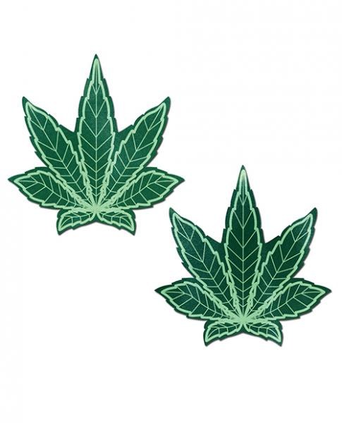 Pastease Marijuana Leaf Pasties Green O/S