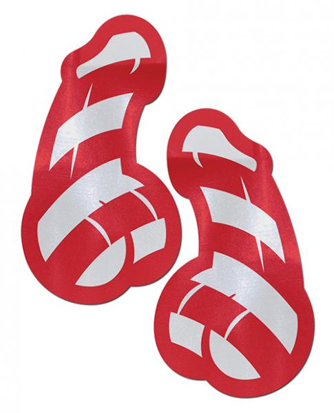 Pastease Candy Cane Dicks Red & White Pasties O/S