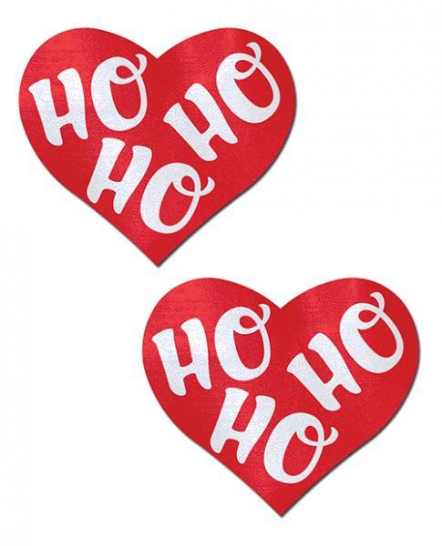 Ho Ho Ho Hearts Red & White O/S