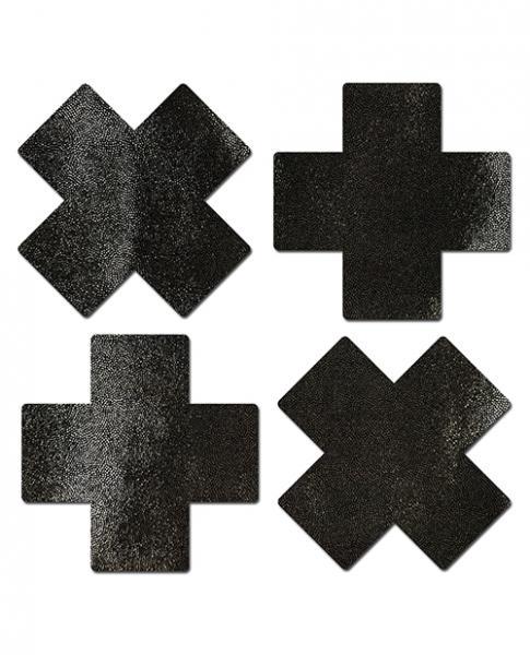 Pastease Petites Liquid Cross Black Pack Of 2 O/S