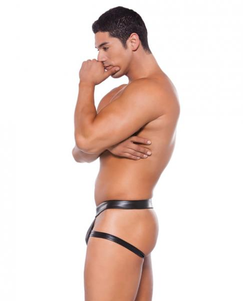 Wet Look Brief Style Jock Strap Black O/S