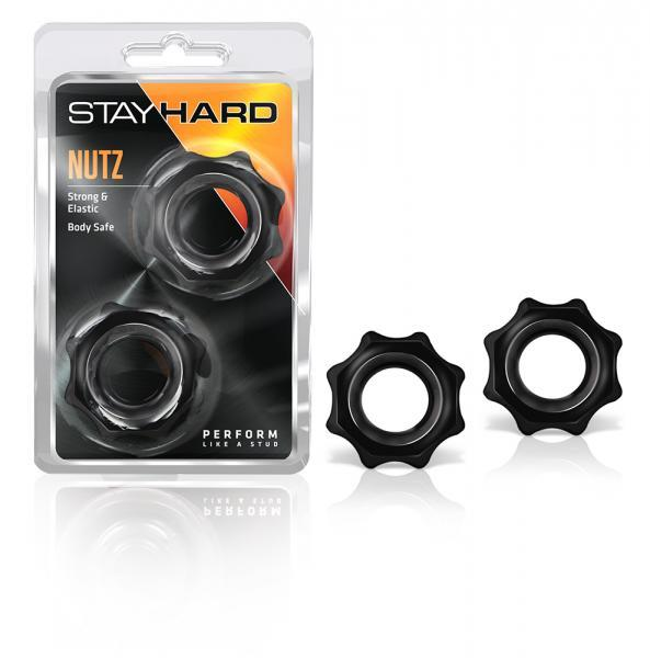 Stay Hard Nutz 2 Black Cock Rings