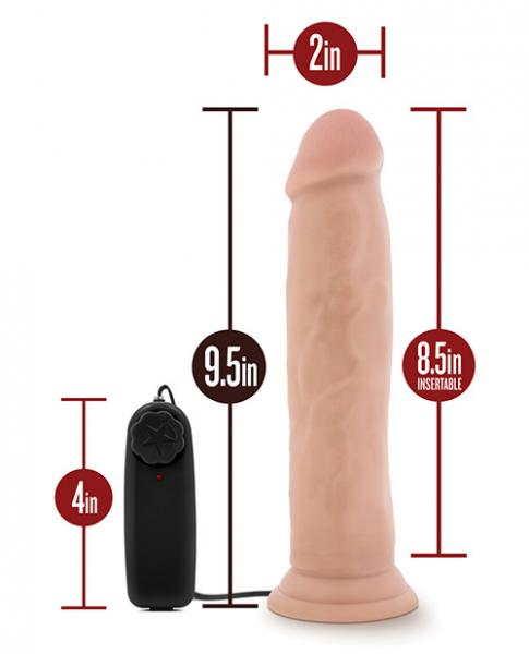 Dr. Throb 9.5 inches Vibrating Cock, Suction Cup Beige