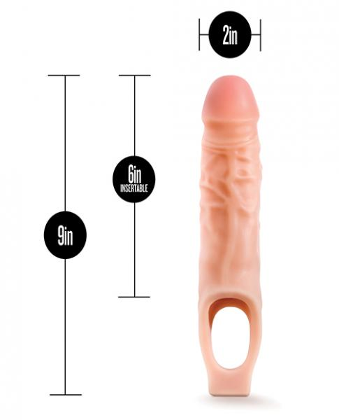 Performance 9 inches Cock Sheath Penis Extender Beige