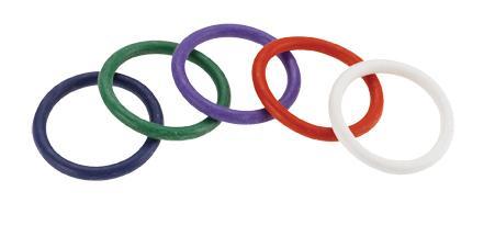 Rainbow Rubber C Ring 5 Per Set 1.5 Inch