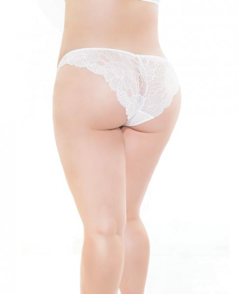 Low Rise Stretch Scallop Lace Panty White XL