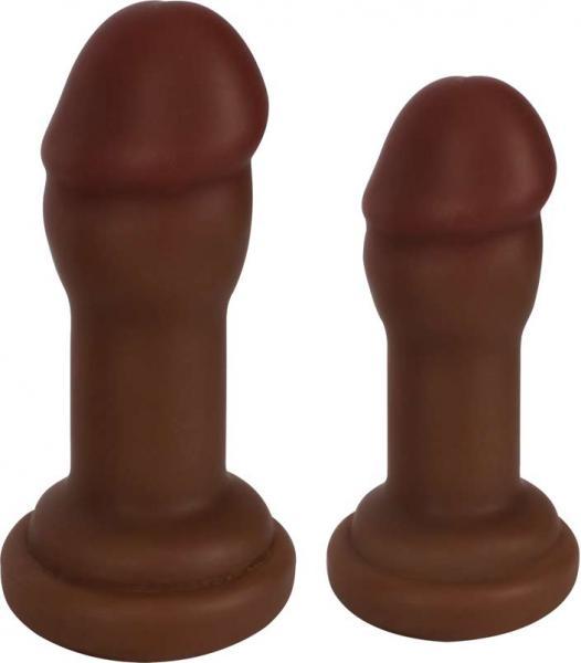 Jock Anal Plug Duo 2 Piece Set Chocolate Brown