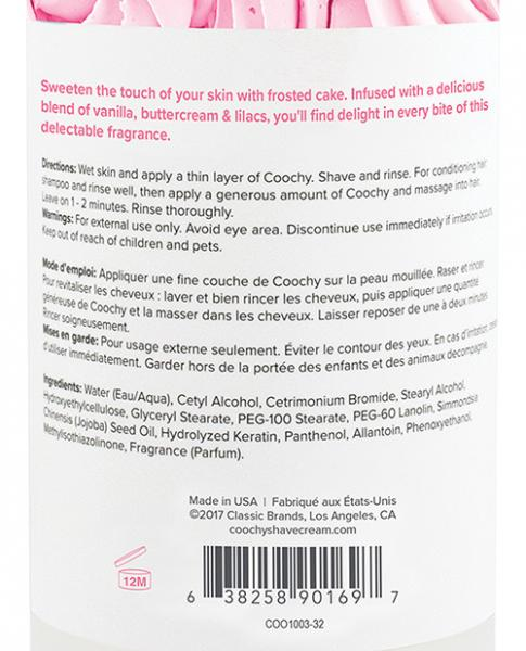 Coochy Oh So Smooth Shave Cream Frosted Cake 32oz