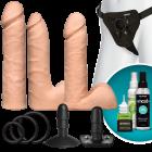 Vac-U-Lock Dual Density Ultraskyn Vanilla Beige Set Sex Toy Product