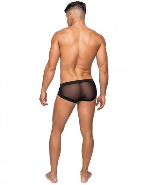 Hoser Stretch Mesh Micro Mini Shorts Black Large