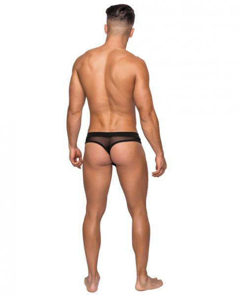 Hoser Stretch Mesh Thong Black S/M