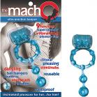 Ultra Erection Keeper Blue Vibrating Cock Ring Sex Toy Product