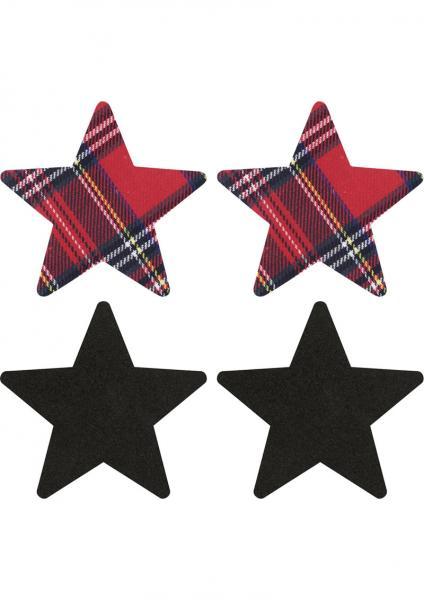 Peekaboos Schoolgirl Stars Pasties O/S