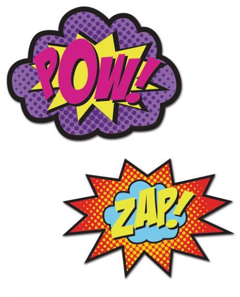 Peekaboos Pow Zap Superhero Pasties 2 Pairs