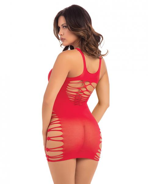 Back 2 Basixxx High Neck Dress Red O/S