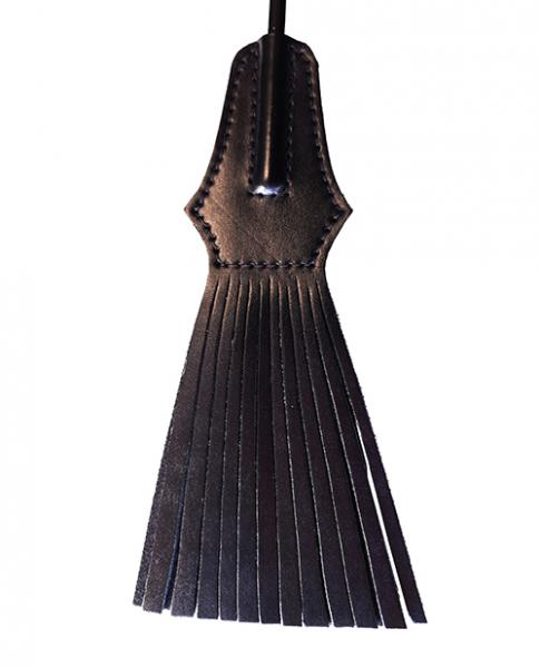 Rouge Tassel Riding Crop Black