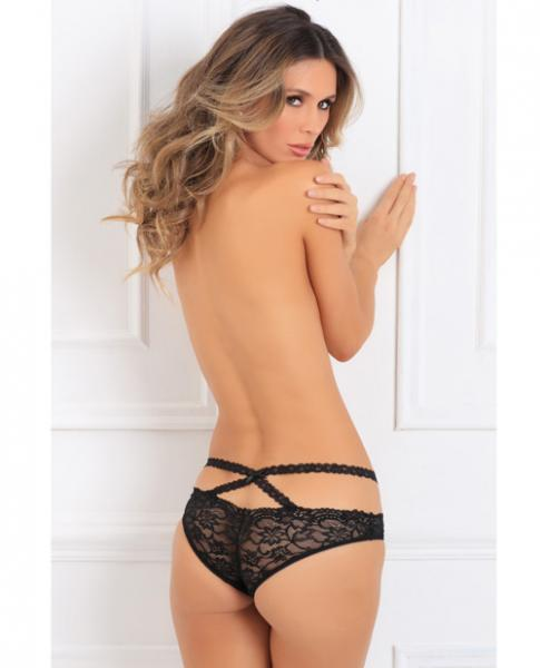 Oh My Lace Crotchless Panty Black M/L