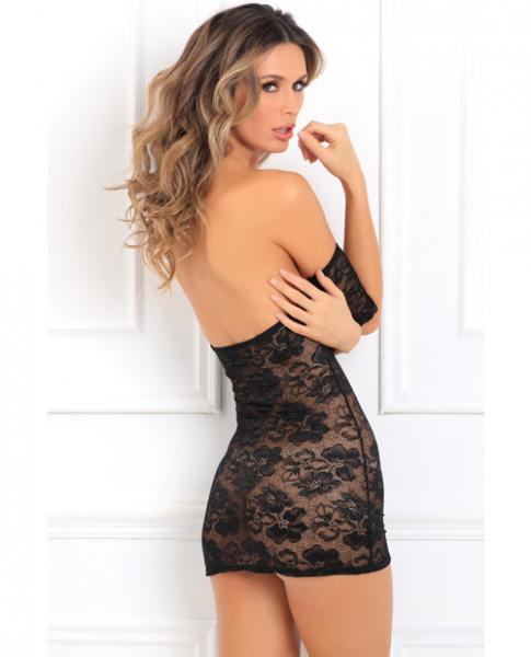 Seductively Stunning Lace Dress Black S/M