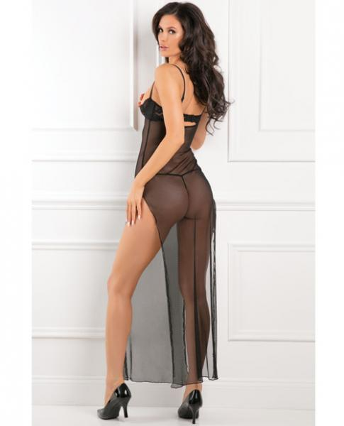 Rene Rofe All Out There Open Cup Dress Black S/M
