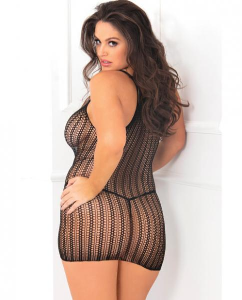 Rene Rofe All Over Me Dress Black One Size Queen