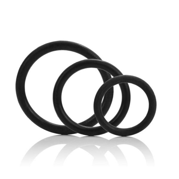 Tri-Rings Set Of 3 Black Rings