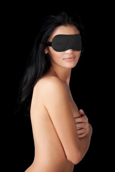 Ouch Curvy Eye Mask Black Blindfold O/S