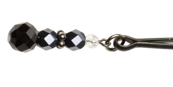 Beaded Clit Clamp With Tweezer Tip - Black