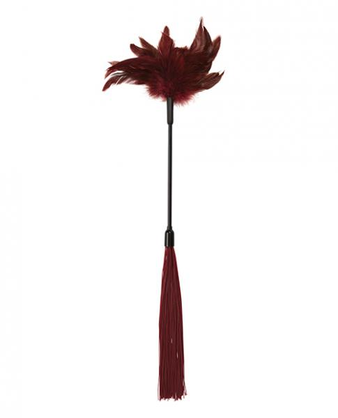 Sex & Mischief Enchanted Feather Tickler Black