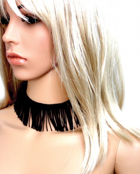 Tyes By Tara Fringe Benefits Bowtye Black Choker