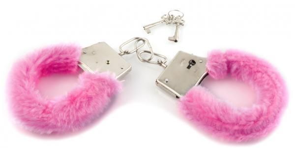 Play Time Cuffs Pink Furry Handcuffs