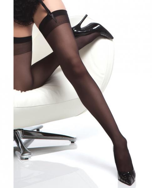 Sheer Thigh High Stocking Back Seam Black O/S