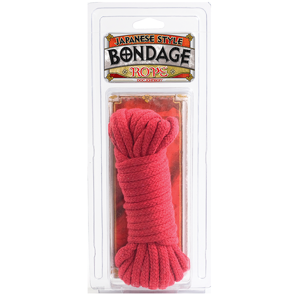 Japanese Style Bondage Rope Cotton Red 32 Feet Sex Toy Product Image 4