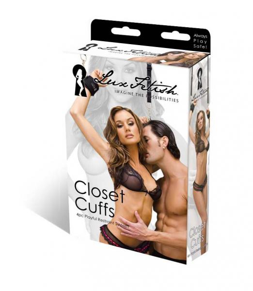 Lux Fetish Closet Cuffs 4 Piece Playful Restraint System
