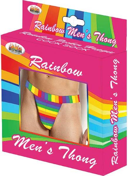 Rainbow Men's Thong One Size