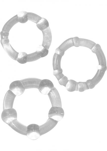 Beaded C Rings Clear 3 Pack