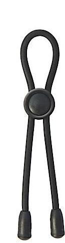 Adjustable Silicone Cock Tie Black