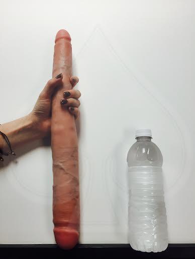16 inches dildo full inside asshole and rosebutt push latina 9
