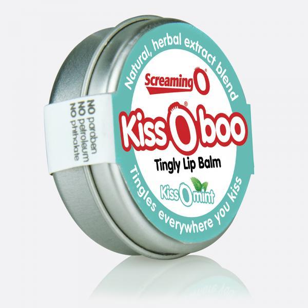 KissOboo Tingly Lip Balm Peppermint .45oz Tin