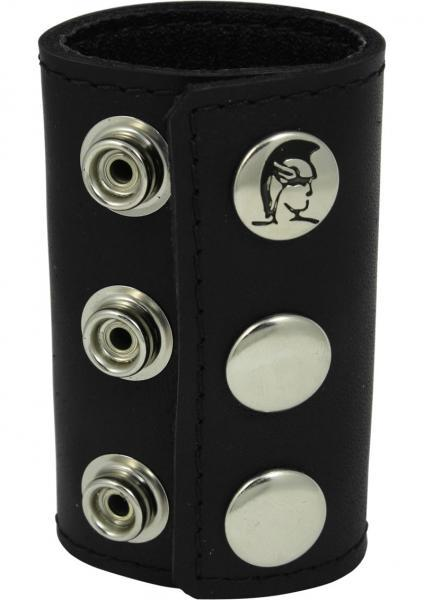 Ball Stretcher With Snaps 3 Inch - Black