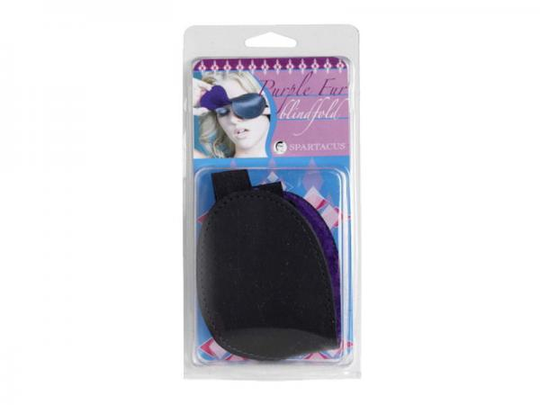 Purple Fur Lined Blindfold